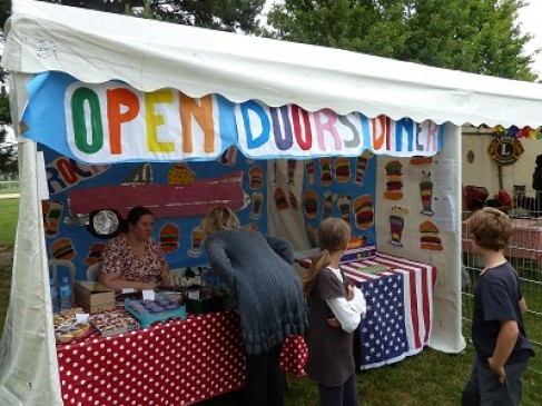 Open Doors Stand at Fete du Village